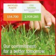 Das Tecniplast Recycling Projekt erzielte eine Einsparung der  CO2 Emission von über 2900 Tonnen in den letzten zehn Jahren