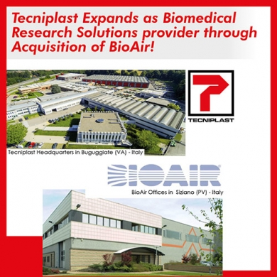 Tecniplast Expands as Biomedical Research Solutions provider <br>through Acquisition of BioAir.
