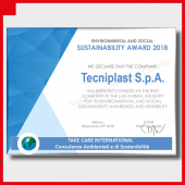 "TECNIPLAST OBTAINS THE ""ENVIRONMENTAL AND SOCIAL SUSTAINABILITY AWARD 2018"""