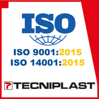 TECNIPLAST OBTAINED THE LATEST GENERATION OF CERTIFICATION ISO 9001:2015