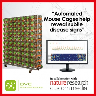 DVC®,  the cage of the future! Opens doors to new scientific discoveries, delivering big data and lets scientists monitor animals' activity, food and water availability and other parameters 24/7.