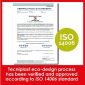 Tecniplast reduces the environmental impact of products and services for a greener planet. TP eco-design process has been verified and approved according to ISO 14006 standard