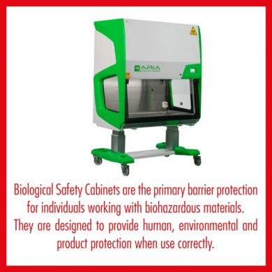 Major international standards for Biological Safety Cabinets: AS 2252; EN12469; NSF49