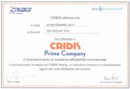 Tecniplast obtient le certificat Cribis Prime Company, la plus haute évaluation de la fiabilité d'une entreprise