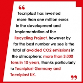Tecniplast Recycling Project: 10 Years of Success