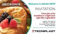 Join Tecniplast at the AALAS Breakfast Invitation 2019!