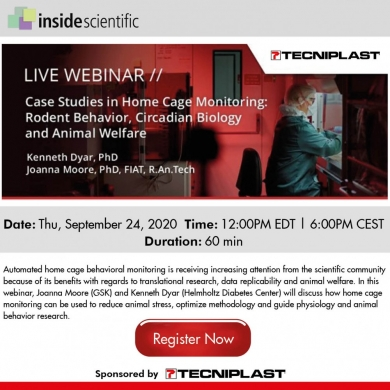 Join us for the latest DVC Webinar: Case Studies in Home Cage Monitoring: Rodent Behavior, Circadian Biology and Animal Welfare